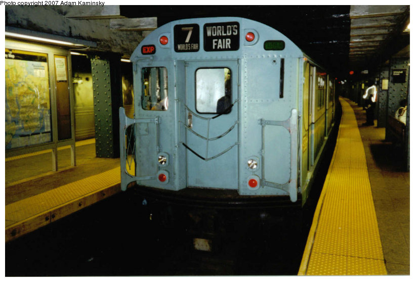 (100k, 820x558)<br><b>Country:</b> United States<br><b>City:</b> New York<br><b>System:</b> New York City Transit<br><b>Line:</b> BMT Broadway Line<br><b>Location:</b> Whitehall Street <br><b>Route:</b> Fan Trip<br><b>Car:</b> R-33 World's Fair (St. Louis, 1963-64) 9306 <br><b>Photo by:</b> Adam Kaminsky<br><b>Date:</b> 2003<br><b>Viewed (this week/total):</b> 0 / 1749