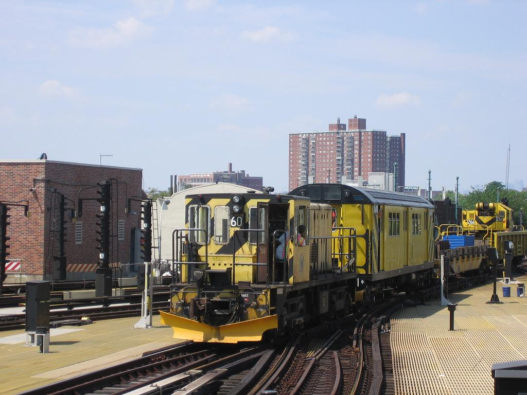 (130k, 1024x768)<br><b>Country:</b> United States<br><b>City:</b> New York<br><b>System:</b> New York City Transit<br><b>Location:</b> Coney Island/Stillwell Avenue<br><b>Route:</b> Work Service<br><b>Car:</b> R-43 Locomotive  60 <br><b>Photo by:</b> Michael Hodurski<br><b>Date:</b> 7/29/2006<br><b>Viewed (this week/total):</b> 3 / 1670