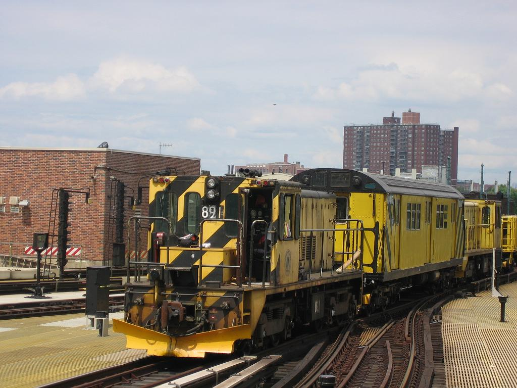 (133k, 1024x768)<br><b>Country:</b> United States<br><b>City:</b> New York<br><b>System:</b> New York City Transit<br><b>Location:</b> Coney Island/Stillwell Avenue<br><b>Route:</b> Work Service<br><b>Car:</b> R-77 Locomotive  891 <br><b>Photo by:</b> Michael Hodurski<br><b>Date:</b> 8/4/2006<br><b>Viewed (this week/total):</b> 9 / 953