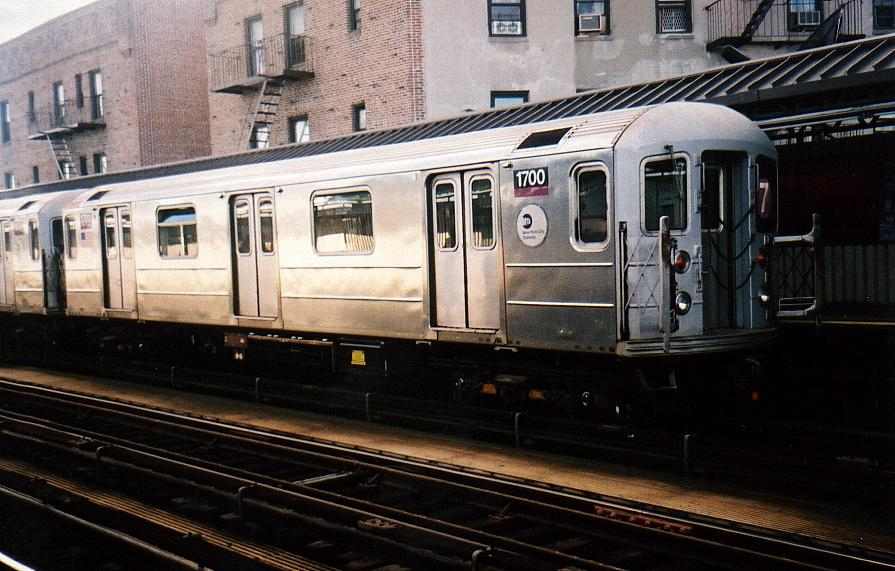 (92k, 895x571)<br><b>Country:</b> United States<br><b>City:</b> New York<br><b>System:</b> New York City Transit<br><b>Line:</b> IRT Flushing Line<br><b>Location:</b> 52nd Street/Lincoln Avenue <br><b>Route:</b> 7<br><b>Car:</b> R-62A (Bombardier, 1984-1987)  1700 <br><b>Photo by:</b> Gary Chatterton<br><b>Date:</b> 8/2002<br><b>Viewed (this week/total):</b> 0 / 2609