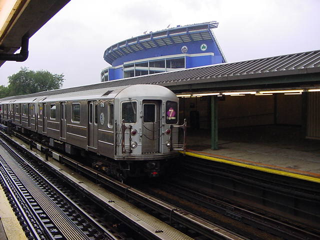 (61k, 640x480)<br><b>Country:</b> United States<br><b>City:</b> New York<br><b>System:</b> New York City Transit<br><b>Line:</b> IRT Flushing Line<br><b>Location:</b> Willets Point/Mets (fmr. Shea Stadium) <br><b>Route:</b> 7<br><b>Car:</b> R-62A (Bombardier, 1984-1987)  1716 <br><b>Photo by:</b> Salaam Allah<br><b>Date:</b> 9/26/2002<br><b>Viewed (this week/total):</b> 0 / 5942