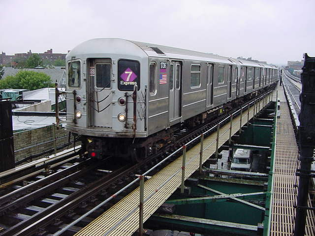(60k, 640x480)<br><b>Country:</b> United States<br><b>City:</b> New York<br><b>System:</b> New York City Transit<br><b>Line:</b> IRT Flushing Line<br><b>Location:</b> 61st Street/Woodside <br><b>Car:</b> R-62A (Bombardier, 1984-1987)  1736 <br><b>Photo by:</b> Salaam Allah<br><b>Date:</b> 9/26/2002<br><b>Viewed (this week/total):</b> 3 / 2804
