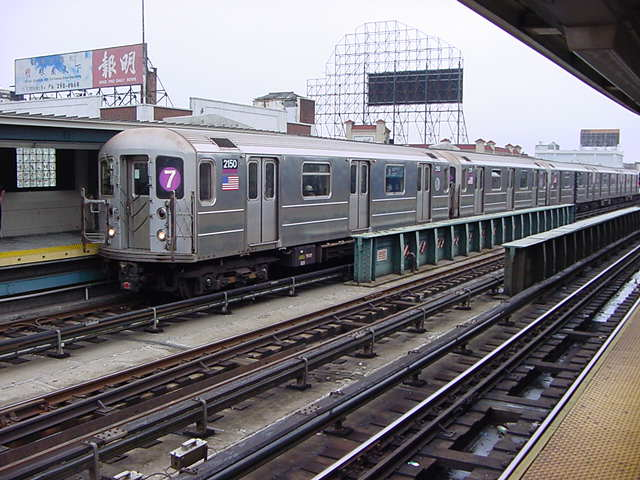 (59k, 640x480)<br><b>Country:</b> United States<br><b>City:</b> New York<br><b>System:</b> New York City Transit<br><b>Line:</b> IRT Flushing Line<br><b>Location:</b> 33rd Street/Rawson Street <br><b>Route:</b> 7<br><b>Car:</b> R-62A (Bombardier, 1984-1987)  2150 <br><b>Photo by:</b> Salaam Allah<br><b>Date:</b> 9/27/2002<br><b>Viewed (this week/total):</b> 2 / 2316