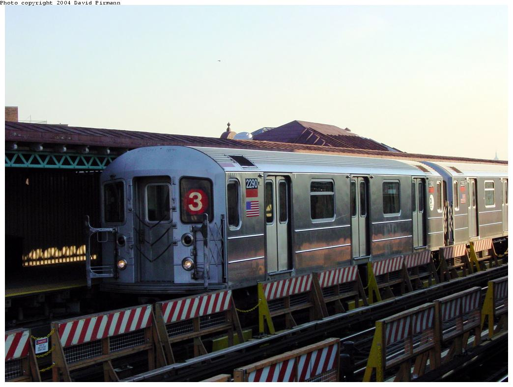 (107k, 1044x788)<br><b>Country:</b> United States<br><b>City:</b> New York<br><b>System:</b> New York City Transit<br><b>Line:</b> IRT White Plains Road Line<br><b>Location:</b> Simpson Street <br><b>Route:</b> 3<br><b>Car:</b> R-62A (Bombardier, 1984-1987)  2290 <br><b>Photo by:</b> David Pirmann<br><b>Date:</b> 8/21/2002<br><b>Viewed (this week/total):</b> 0 / 4153
