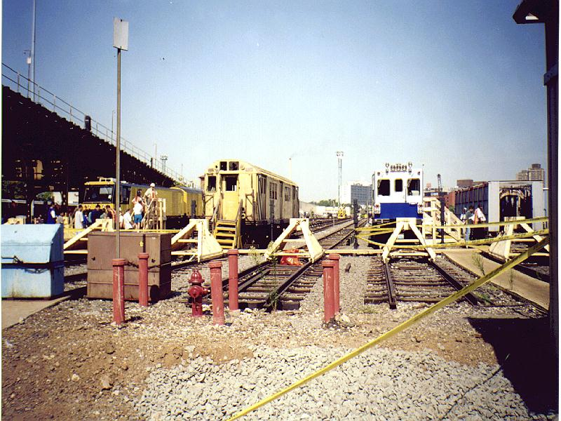 (122k, 800x600)<br><b>Country:</b> United States<br><b>City:</b> New York<br><b>System:</b> New York City Transit<br><b>Location:</b> Westchester Yard<br><b>Photo by:</b> Constantine Steffan<br><b>Date:</b> 9/12/1998<br><b>Notes:</b> R21 7267 & TGC2-Track Geometry Car<br><b>Viewed (this week/total):</b> 0 / 1559
