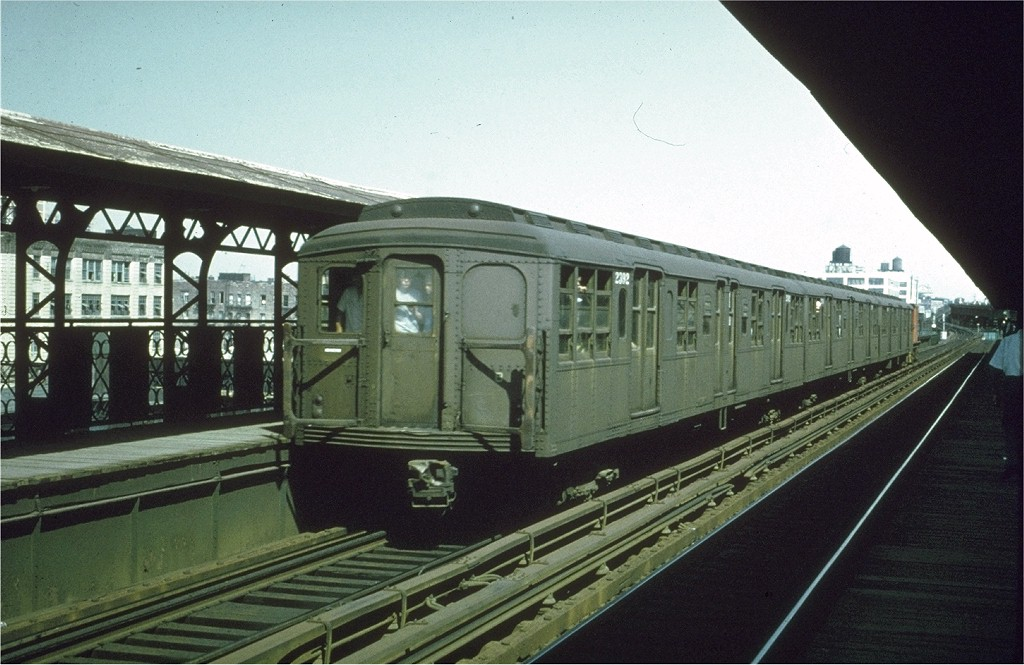 (185k, 1024x665)<br><b>Country:</b> United States<br><b>City:</b> New York<br><b>System:</b> New York City Transit<br><b>Line:</b> BMT Canarsie Line<br><b>Location:</b> Sutter Avenue <br><b>Route:</b> Fan Trip<br><b>Car:</b> BMT A/B-Type Standard 2392 <br><b>Collection of:</b> Joe Testagrose<br><b>Date:</b> 8/23/1969<br><b>Viewed (this week/total):</b> 0 / 2359
