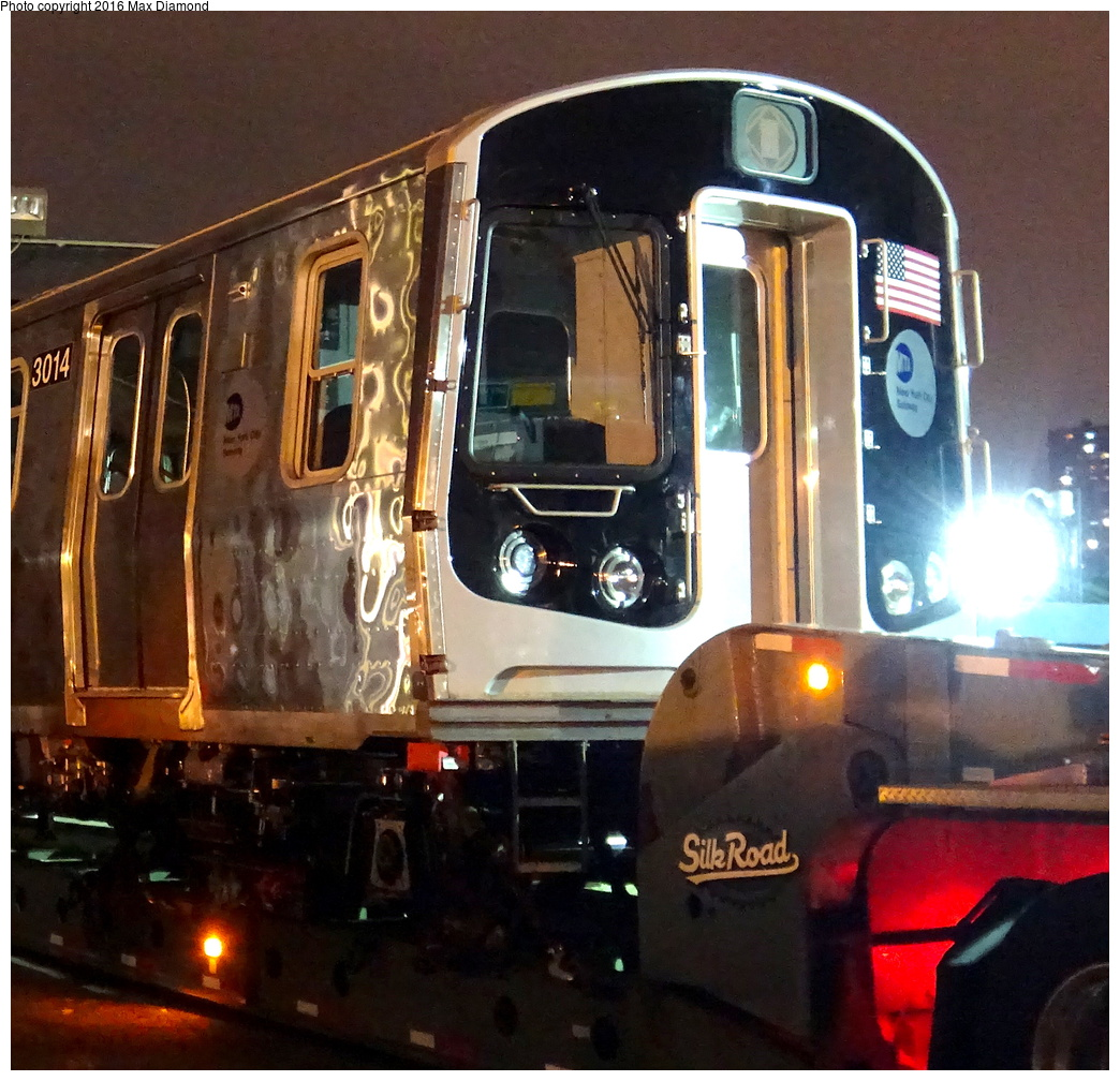 (413k, 1044x1008)<br><b>Country:</b> United States<br><b>City:</b> New York<br><b>System:</b> New York City Transit<br><b>Location:</b> 207th Street Yard<br><b>Car:</b> R-179 (Bombardier, 2016-) 3014 <br><b>Photo by:</b> Max Diamond<br><b>Date:</b> 9/6/2016<br><b>Notes:</b> First R-179 delivery<br><b>Viewed (this week/total):</b> 30 / 953