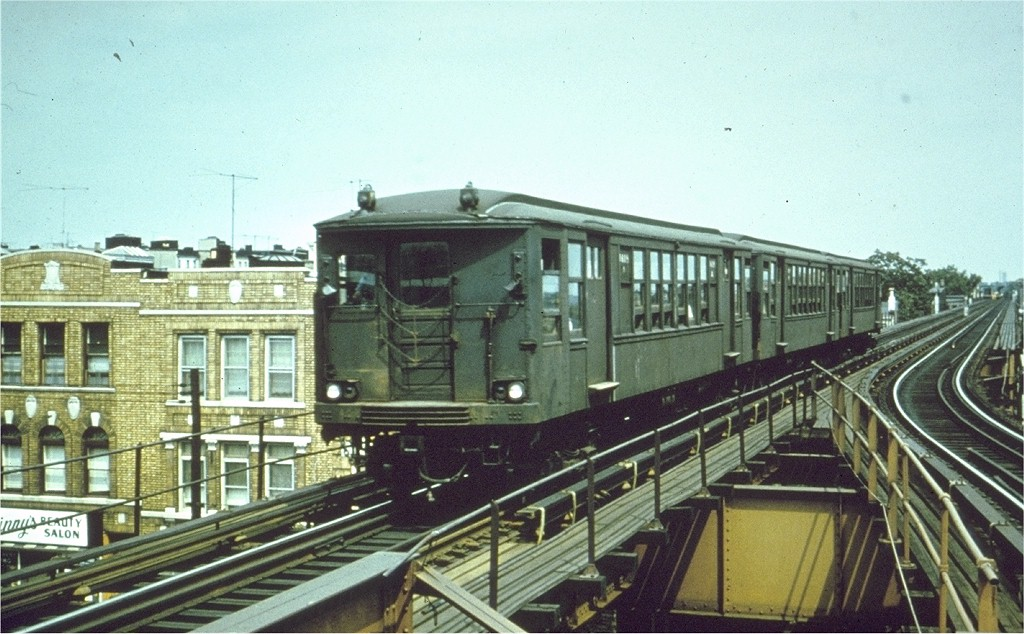 (197k, 1024x634)<br><b>Country:</b> United States<br><b>City:</b> New York<br><b>System:</b> New York City Transit<br><b>Line:</b> BMT Myrtle Avenue Line<br><b>Location:</b> Forest Avenue <br><b>Car:</b> BMT Q 1619 <br><b>Photo by:</b> Joe Testagrose<br><b>Date:</b> 1965<br><b>Viewed (this week/total):</b> 0 / 3615