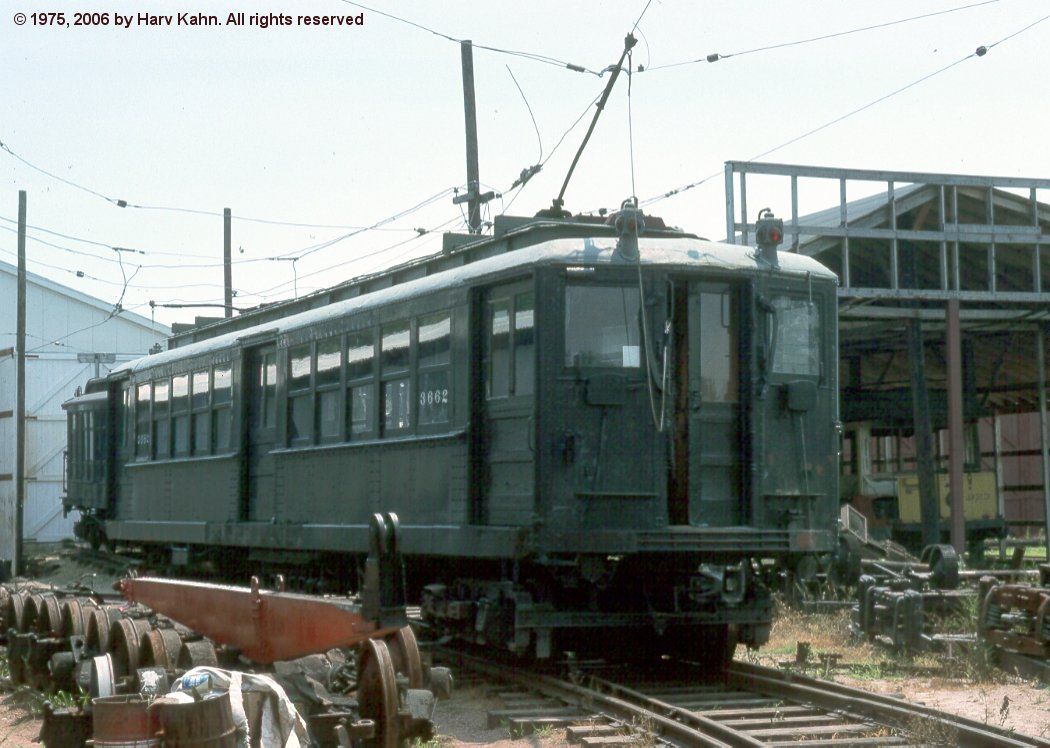 (137k, 1050x748)<br><b>Country:</b> United States<br><b>City:</b> East Haven/Branford, Ct.<br><b>System:</b> Shore Line Trolley Museum <br><b>Car:</b> Hi-V 3662 <br><b>Photo by:</b> Harv Kahn<br><b>Date:</b> 7/19/1975<br><b>Viewed (this week/total):</b> 2 / 2659
