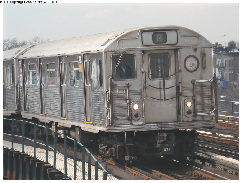 (112k, 820x620)<br><b>Country:</b> United States<br><b>City:</b> New York<br><b>System:</b> New York City Transit<br><b>Line:</b> IND Fulton Street Line<br><b>Location:</b> 80th Street/Hudson Street <br><b>Route:</b> A<br><b>Car:</b> R-38 (St. Louis, 1966-1967)  3984 <br><b>Photo by:</b> Gary Chatterton<br><b>Date:</b> 2/27/2007<br><b>Viewed (this week/total):</b> 2 / 2211