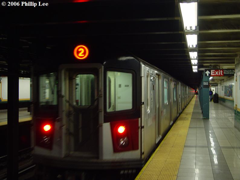(51k, 794x596)<br><b>Country:</b> United States<br><b>City:</b> New York<br><b>System:</b> New York City Transit<br><b>Line:</b> IRT Brooklyn Line<br><b>Location:</b> Church Avenue <br><b>Route:</b> 2<br><b>Car:</b> R-142A (Primary Order, Kawasaki, 1999-2002)  7420 <br><b>Photo by:</b> Phillip Lee<br><b>Date:</b> 11/1/2006<br><b>Viewed (this week/total):</b> 2 / 4144