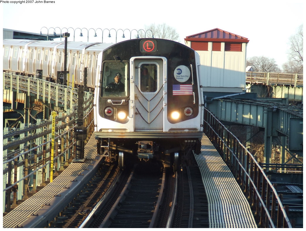 (224k, 1044x788)<br><b>Country:</b> United States<br><b>City:</b> New York<br><b>System:</b> New York City Transit<br><b>Line:</b> BMT Canarsie Line<br><b>Location:</b> Atlantic Avenue <br><b>Route:</b> L<br><b>Car:</b> R-143 (Kawasaki, 2001-2002) 8149 <br><b>Photo by:</b> John Barnes<br><b>Date:</b> 3/8/2007<br><b>Viewed (this week/total):</b> 1 / 2215