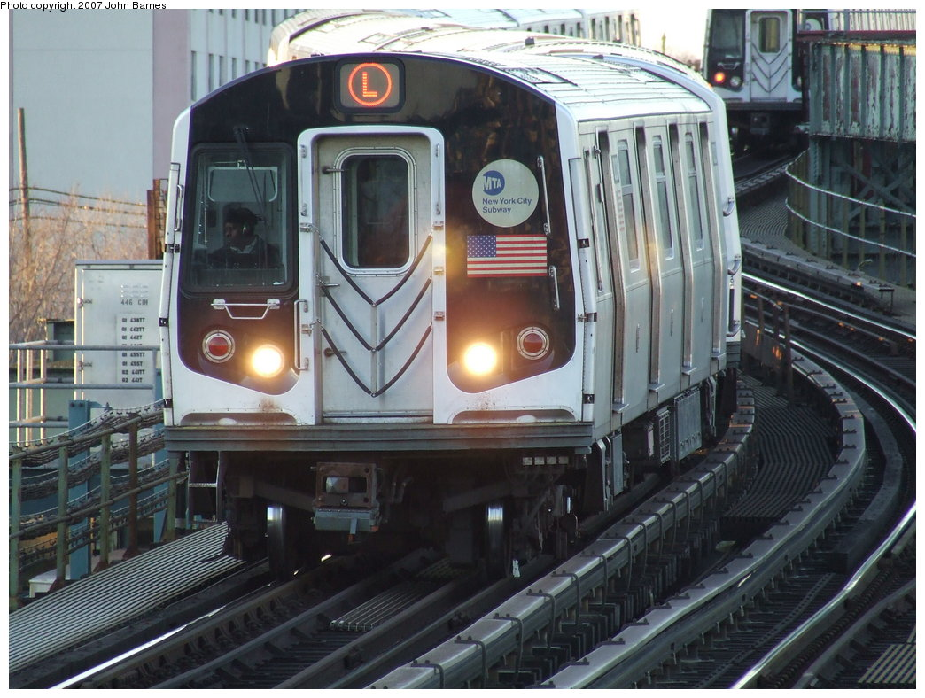 (197k, 1044x788)<br><b>Country:</b> United States<br><b>City:</b> New York<br><b>System:</b> New York City Transit<br><b>Line:</b> BMT Canarsie Line<br><b>Location:</b> Sutter Avenue <br><b>Route:</b> L<br><b>Car:</b> R-143 (Kawasaki, 2001-2002) 8229 <br><b>Photo by:</b> John Barnes<br><b>Date:</b> 3/8/2007<br><b>Viewed (this week/total):</b> 1 / 2224