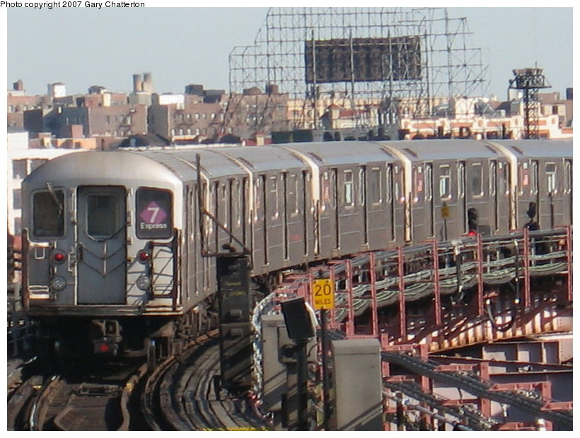 (130k, 820x620)<br><b>Country:</b> United States<br><b>City:</b> New York<br><b>System:</b> New York City Transit<br><b>Line:</b> IRT Flushing Line<br><b>Location:</b> Queensborough Plaza <br><b>Route:</b> 7<br><b>Car:</b> R-62A (Bombardier, 1984-1987)  1736 <br><b>Photo by:</b> Gary Chatterton<br><b>Date:</b> 3/9/2007<br><b>Viewed (this week/total):</b> 9 / 2002