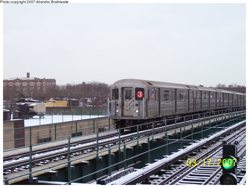 (125k, 820x620)<br><b>Country:</b> United States<br><b>City:</b> New York<br><b>System:</b> New York City Transit<br><b>Line:</b> IRT Brooklyn Line<br><b>Location:</b> Van Siclen Avenue <br><b>Route:</b> 3<br><b>Car:</b> R-62A (Bombardier, 1984-1987)  1930 <br><b>Photo by:</b> Aliandro Brathwaite<br><b>Date:</b> 3/17/2007<br><b>Viewed (this week/total):</b> 1 / 2124