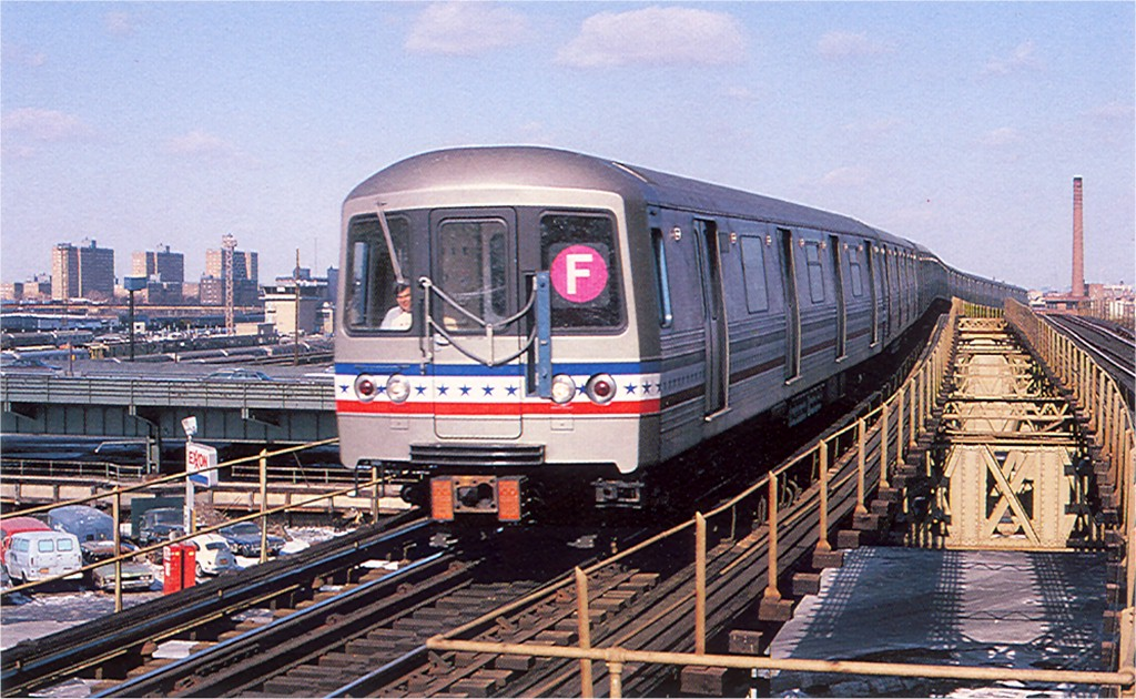 (226k, 1024x630)<br><b>Country:</b> United States<br><b>City:</b> New York<br><b>System:</b> New York City Transit<br><b>Line:</b> BMT Culver Line<br><b>Location:</b> Neptune Avenue <br><b>Route:</b> F<br><b>Car:</b> R-46 (Pullman-Standard, 1974-75) 680 <br><b>Collection of:</b> Joe Testagrose<br><b>Date:</b> 1977<br><b>Viewed (this week/total):</b> 7 / 2493