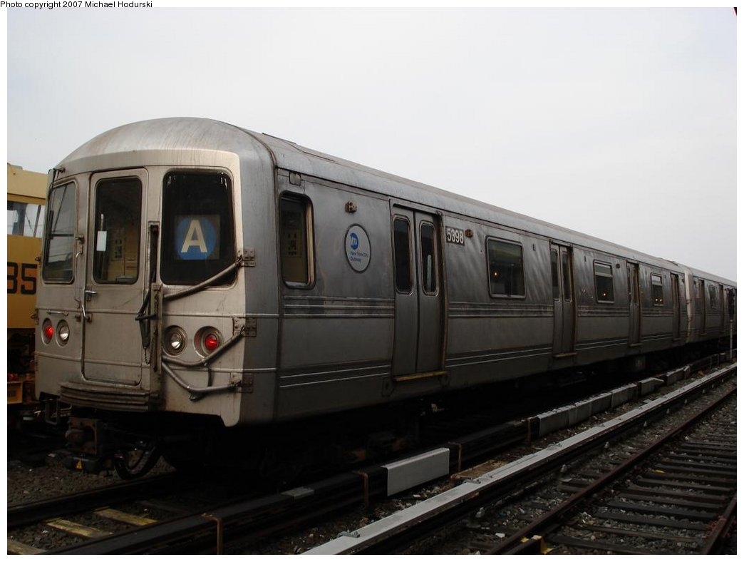 (120k, 1044x788)<br><b>Country:</b> United States<br><b>City:</b> New York<br><b>System:</b> New York City Transit<br><b>Location:</b> Rockaway Park Yard<br><b>Car:</b> R-44 (St. Louis, 1971-73) 5398 <br><b>Photo by:</b> Michael Hodurski<br><b>Date:</b> 3/10/2007<br><b>Viewed (this week/total):</b> 1 / 1332