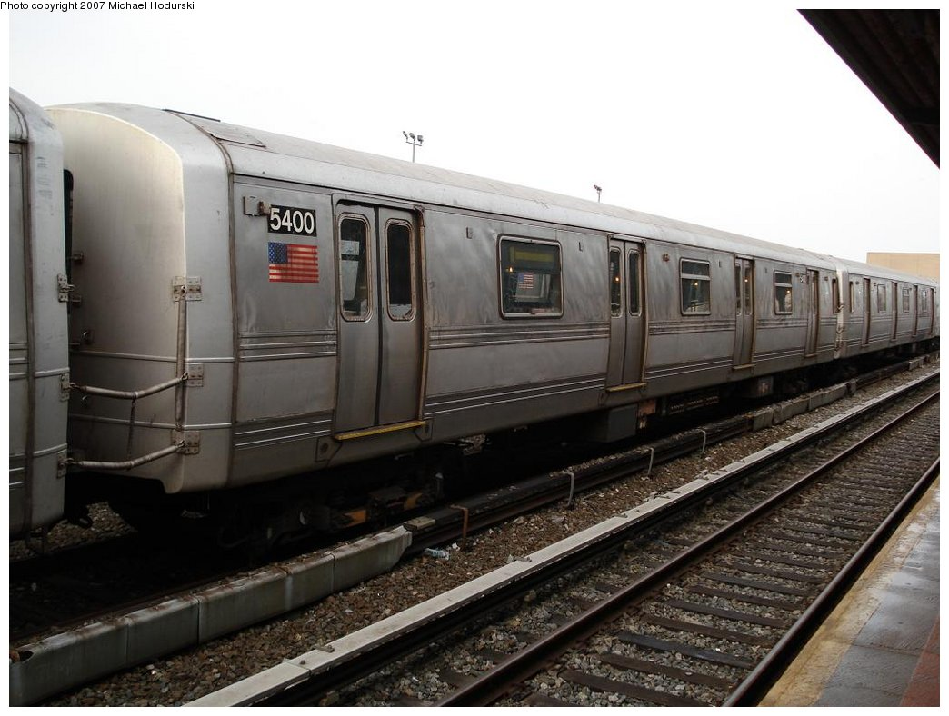 (156k, 1044x788)<br><b>Country:</b> United States<br><b>City:</b> New York<br><b>System:</b> New York City Transit<br><b>Location:</b> Rockaway Park Yard<br><b>Car:</b> R-44 (St. Louis, 1971-73) 5400 <br><b>Photo by:</b> Michael Hodurski<br><b>Date:</b> 3/10/2007<br><b>Viewed (this week/total):</b> 0 / 1439