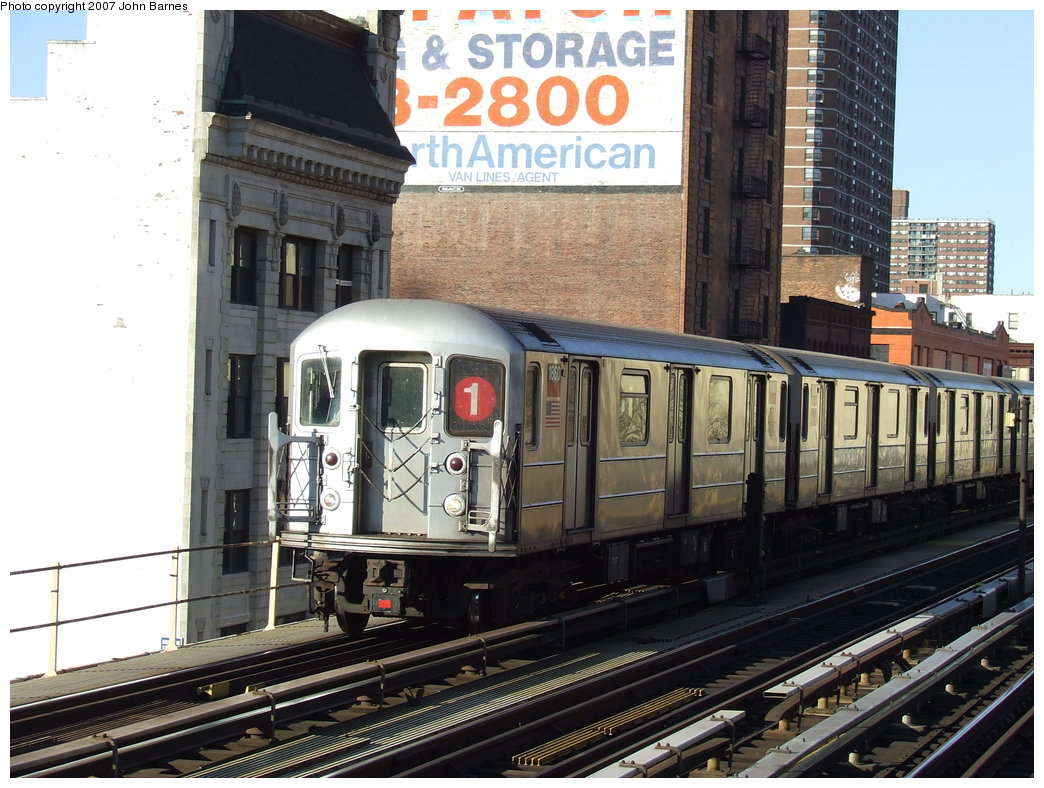 (206k, 1044x788)<br><b>Country:</b> United States<br><b>City:</b> New York<br><b>System:</b> New York City Transit<br><b>Line:</b> IRT West Side Line<br><b>Location:</b> 125th Street <br><b>Route:</b> 1<br><b>Car:</b> R-62A (Bombardier, 1984-1987)  1860 <br><b>Photo by:</b> John Barnes<br><b>Date:</b> 3/20/2007<br><b>Viewed (this week/total):</b> 0 / 1349