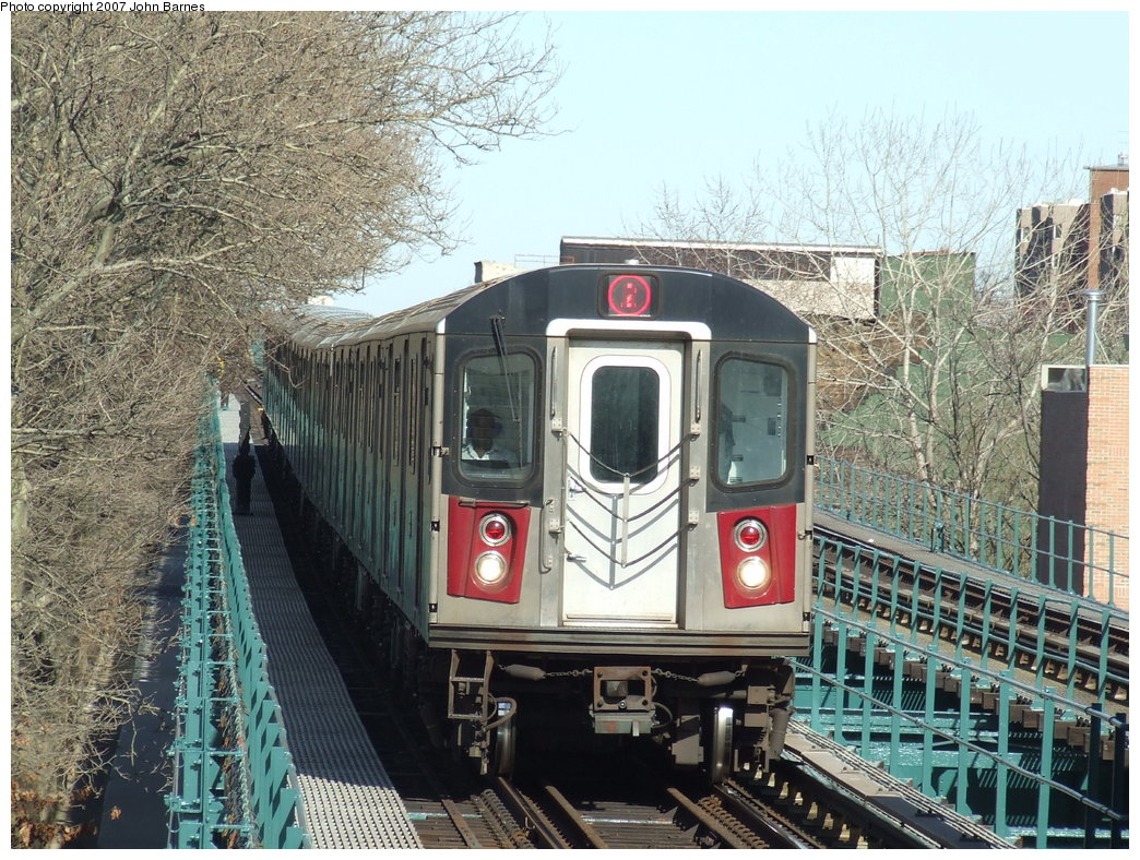 (264k, 1044x788)<br><b>Country:</b> United States<br><b>City:</b> New York<br><b>System:</b> New York City Transit<br><b>Line:</b> IRT Brooklyn Line<br><b>Location:</b> Saratoga Avenue <br><b>Route:</b> 2<br><b>Car:</b> R-142 (Primary Order, Bombardier, 1999-2002)  6661 <br><b>Photo by:</b> John Barnes<br><b>Date:</b> 3/28/2007<br><b>Viewed (this week/total):</b> 1 / 5136