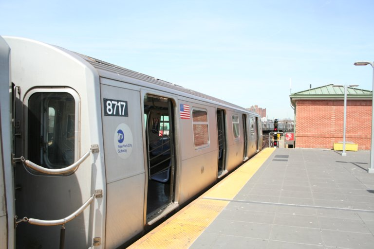 (54k, 768x512)<br><b>Country:</b> United States<br><b>City:</b> New York<br><b>System:</b> New York City Transit<br><b>Location:</b> Coney Island/Stillwell Avenue<br><b>Route:</b> N<br><b>Car:</b> R-160B (Kawasaki, 2005-2008)  8717 <br><b>Photo by:</b> Neil Feldman<br><b>Date:</b> 3/30/2007<br><b>Viewed (this week/total):</b> 0 / 1815