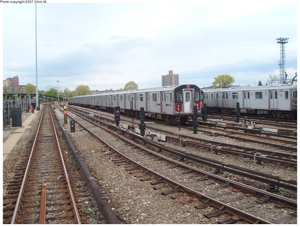 (210k, 1044x788)<br><b>Country:</b> United States<br><b>City:</b> New York<br><b>System:</b> New York City Transit<br><b>Location:</b> Unionport Yard<br><b>Car:</b> R-142 or R-142A (Number Unknown)  <br><b>Photo by:</b> Chris M.<br><b>Date:</b> 5/1/2005<br><b>Viewed (this week/total):</b> 2 / 2314