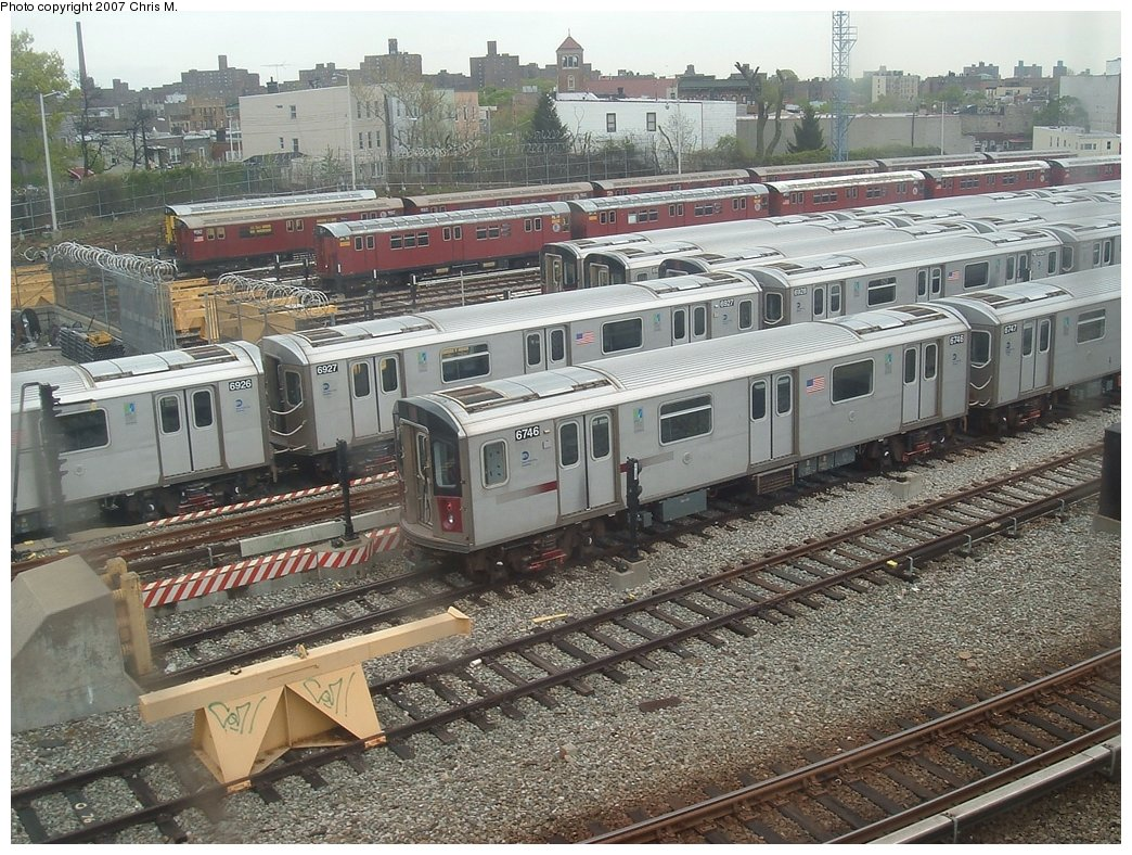 (243k, 1044x788)<br><b>Country:</b> United States<br><b>City:</b> New York<br><b>System:</b> New York City Transit<br><b>Location:</b> Unionport Yard<br><b>Car:</b> R-142 (Primary Order, Bombardier, 1999-2002)  6746 <br><b>Photo by:</b> Chris M.<br><b>Date:</b> 5/1/2005<br><b>Viewed (this week/total):</b> 2 / 2182