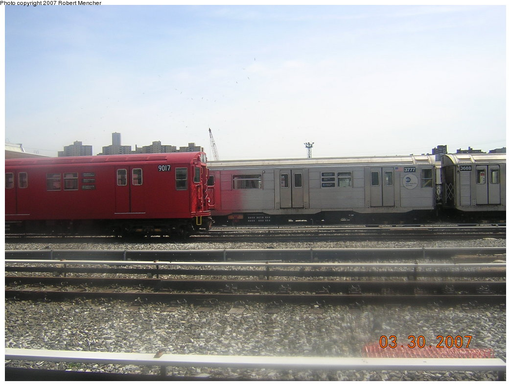 (179k, 1044x788)<br><b>Country:</b> United States<br><b>City:</b> New York<br><b>System:</b> New York City Transit<br><b>Location:</b> 207th Street Yard<br><b>Car:</b> R-32 (Budd, 1964)  3777 <br><b>Photo by:</b> Robert Mencher<br><b>Date:</b> 3/30/2007<br><b>Viewed (this week/total):</b> 0 / 2654