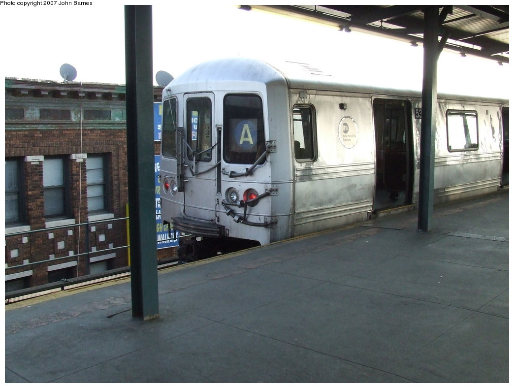 (153k, 1044x788)<br><b>Country:</b> United States<br><b>City:</b> New York<br><b>System:</b> New York City Transit<br><b>Line:</b> IND Fulton Street Line<br><b>Location:</b> Lefferts Boulevard <br><b>Route:</b> A<br><b>Car:</b> R-44 (St. Louis, 1971-73) 5336 <br><b>Photo by:</b> John Barnes<br><b>Date:</b> 4/3/2007<br><b>Viewed (this week/total):</b> 1 / 1915