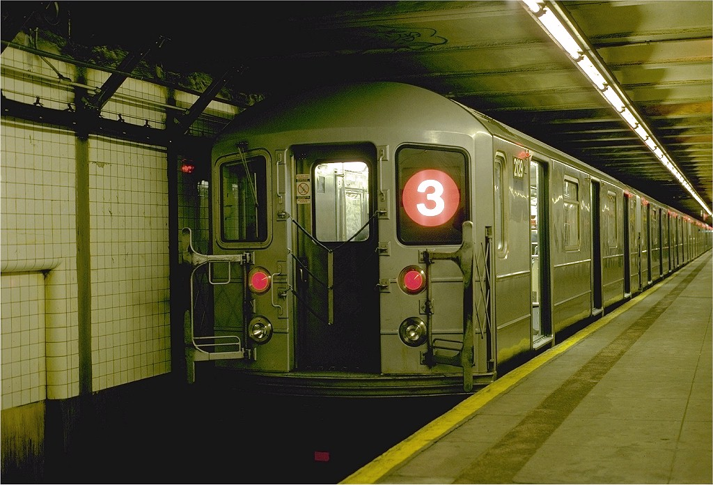 (205k, 1024x696)<br><b>Country:</b> United States<br><b>City:</b> New York<br><b>System:</b> New York City Transit<br><b>Line:</b> IRT Brooklyn Line<br><b>Location:</b> Bergen Street <br><b>Route:</b> 3<br><b>Car:</b> R-62A (Bombardier, 1984-1987)  2129 <br><b>Photo by:</b> Eric Oszustowicz<br><b>Collection of:</b> Joe Testagrose<br><b>Date:</b> 11/21/1987<br><b>Viewed (this week/total):</b> 2 / 3433