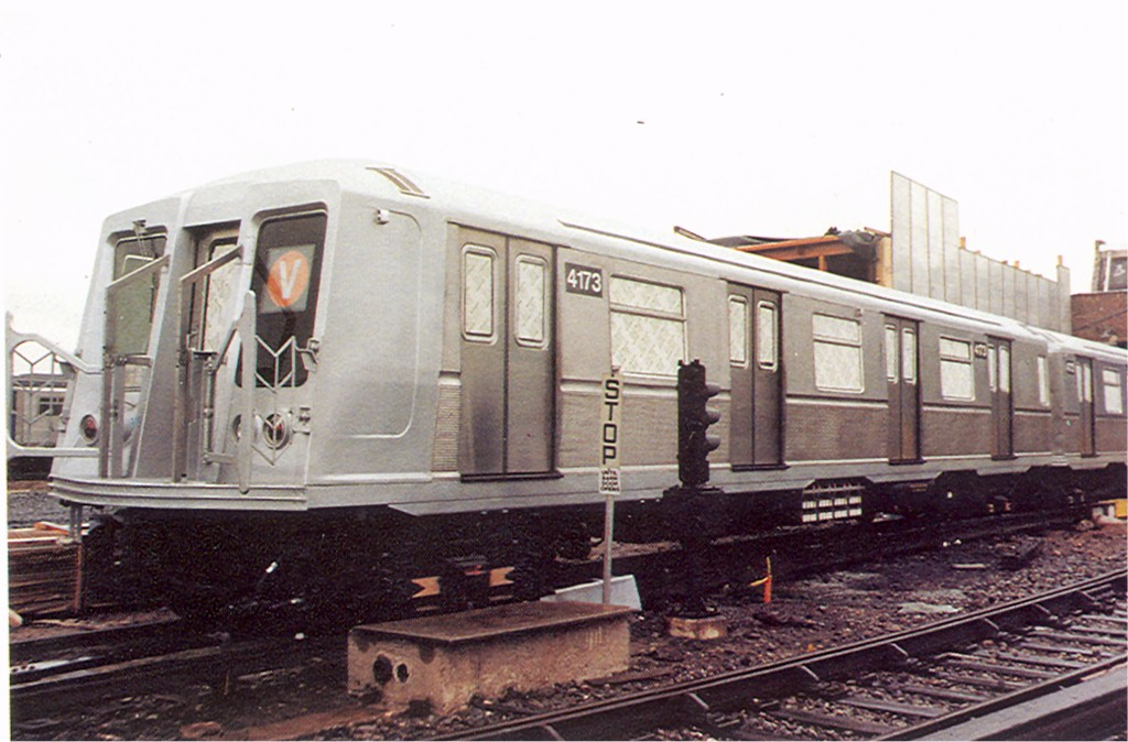 (165k, 1024x674)<br><b>Country:</b> United States<br><b>City:</b> New York<br><b>System:</b> New York City Transit<br><b>Location:</b> Coney Island Yard<br><b>Car:</b> R-40 (St. Louis, 1968)  4173 <br><b>Photo by:</b> Doug Grotjahn<br><b>Collection of:</b> Joe Testagrose<br><b>Viewed (this week/total):</b> 0 / 2857