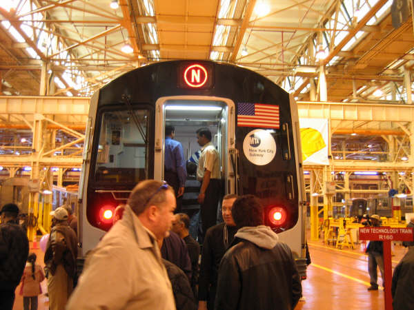 (59k, 600x450)<br><b>Country:</b> United States<br><b>City:</b> New York<br><b>System:</b> New York City Transit<br><b>Location:</b> Coney Island Shop/Overhaul & Repair Shop<br><b>Car:</b> R-160A/R-160B Series (Number Unknown)  <br><b>Photo by:</b> Professor J<br><b>Date:</b> 4/14/2007<br><b>Viewed (this week/total):</b> 2 / 4037
