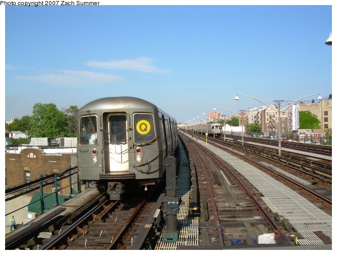 (125k, 660x500)<br><b>Country:</b> United States<br><b>City:</b> New York<br><b>System:</b> New York City Transit<br><b>Line:</b> BMT Brighton Line<br><b>Location:</b> Ocean Parkway <br><b>Route:</b> Q<br><b>Car:</b> R-68/R-68A Series (Number Unknown)  <br><b>Photo by:</b> Zach Summer<br><b>Date:</b> 6/12/2006<br><b>Viewed (this week/total):</b> 1 / 1176