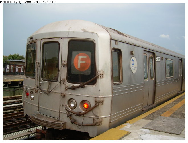 (104k, 660x500)<br><b>Country:</b> United States<br><b>City:</b> New York<br><b>System:</b> New York City Transit<br><b>Line:</b> BMT Culver Line<br><b>Location:</b> Avenue I <br><b>Route:</b> F<br><b>Car:</b> R-46 (Pullman-Standard, 1974-75) 5888 <br><b>Photo by:</b> Zach Summer<br><b>Date:</b> 9/24/2006<br><b>Viewed (this week/total):</b> 0 / 1300