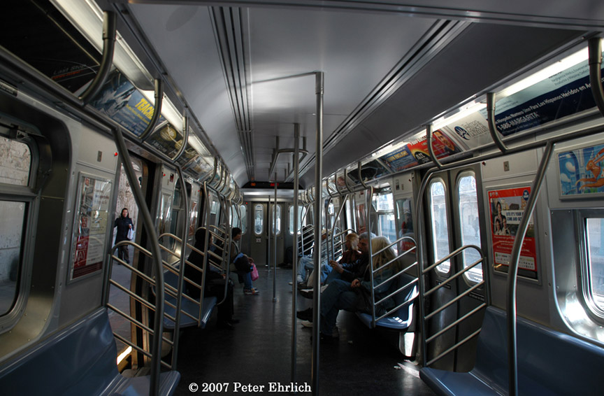 (186k, 864x566)<br><b>Country:</b> United States<br><b>City:</b> New York<br><b>System:</b> New York City Transit<br><b>Car:</b> R-160B (Kawasaki, 2005-2008)  8723 <br><b>Photo by:</b> Peter Ehrlich<br><b>Date:</b> 4/20/2007<br><b>Notes:</b> Interior.<br><b>Viewed (this week/total):</b> 1 / 1967