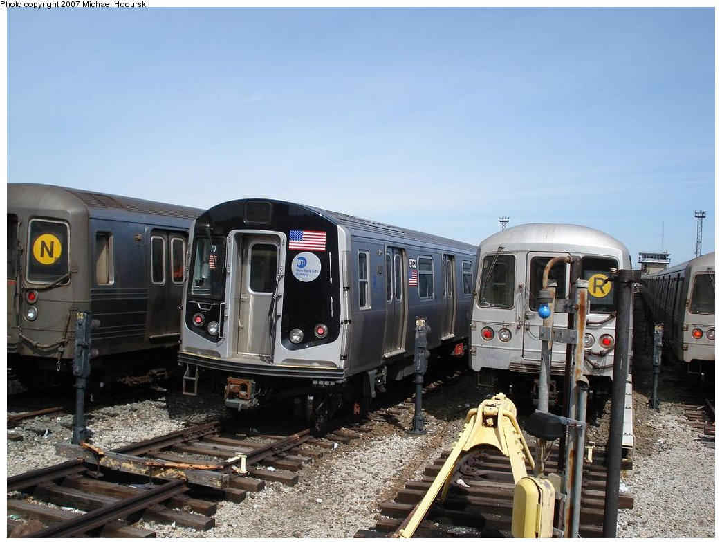 (180k, 1044x788)<br><b>Country:</b> United States<br><b>City:</b> New York<br><b>System:</b> New York City Transit<br><b>Location:</b> Coney Island Yard<br><b>Car:</b> R-160B (Kawasaki, 2005-2008)  8732 <br><b>Photo by:</b> Michael Hodurski<br><b>Date:</b> 4/14/2007<br><b>Viewed (this week/total):</b> 2 / 2696