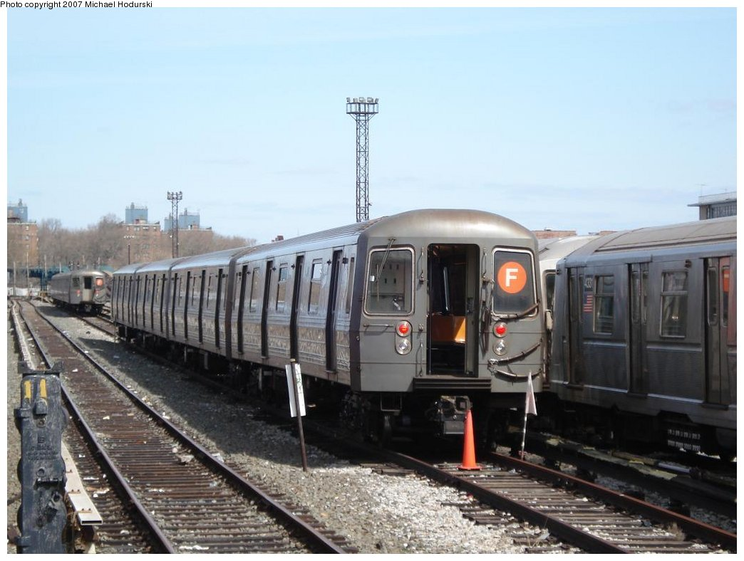 (152k, 1044x788)<br><b>Country:</b> United States<br><b>City:</b> New York<br><b>System:</b> New York City Transit<br><b>Location:</b> Coney Island Yard<br><b>Car:</b> R-68A (Kawasaki, 1988-1989)   <br><b>Photo by:</b> Michael Hodurski<br><b>Date:</b> 4/14/2007<br><b>Viewed (this week/total):</b> 0 / 3177