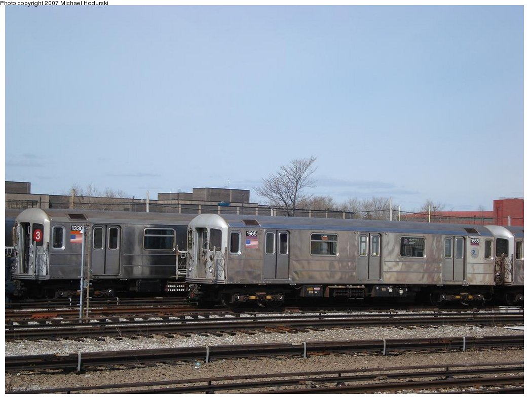 (148k, 1044x788)<br><b>Country:</b> United States<br><b>City:</b> New York<br><b>System:</b> New York City Transit<br><b>Location:</b> Coney Island Yard<br><b>Car:</b> R-62 (Kawasaki, 1983-1985)  1330 <br><b>Photo by:</b> Michael Hodurski<br><b>Date:</b> 4/14/2007<br><b>Viewed (this week/total):</b> 1 / 1649