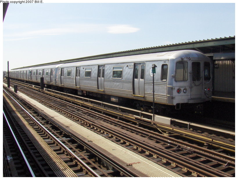 (126k, 820x622)<br><b>Country:</b> United States<br><b>City:</b> New York<br><b>System:</b> New York City Transit<br><b>Line:</b> IND Fulton Street Line<br><b>Location:</b> Rockaway Boulevard <br><b>Route:</b> A<br><b>Car:</b> R-44 (St. Louis, 1971-73) 5478 <br><b>Photo by:</b> Bill E.<br><b>Date:</b> 4/22/2007<br><b>Viewed (this week/total):</b> 2 / 1895