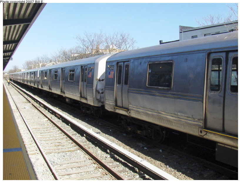 (119k, 820x622)<br><b>Country:</b> United States<br><b>City:</b> New York<br><b>System:</b> New York City Transit<br><b>Location:</b> Rockaway Park Yard<br><b>Car:</b> R-44 (St. Louis, 1971-73) 5281 <br><b>Photo by:</b> Bill E.<br><b>Date:</b> 4/22/2007<br><b>Viewed (this week/total):</b> 4 / 1948