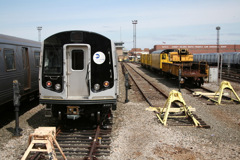 (170k, 800x533)<br><b>Country:</b> United States<br><b>City:</b> New York<br><b>System:</b> New York City Transit<br><b>Location:</b> Coney Island Yard<br><b>Car:</b> R-160B (Kawasaki, 2005-2008)  8772 <br><b>Photo by:</b> Neil Feldman<br><b>Date:</b> 4/14/2007<br><b>Viewed (this week/total):</b> 0 / 1846