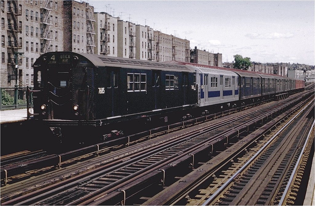 (283k, 1024x668)<br><b>Country:</b> United States<br><b>City:</b> New York<br><b>System:</b> New York City Transit<br><b>Line:</b> IRT Woodlawn Line<br><b>Location:</b> 176th Street <br><b>Route:</b> 4<br><b>Car:</b> R-22 (St. Louis, 1957-58) 7685 <br><b>Photo by:</b> Joe Testagrose<br><b>Date:</b> 6/13/1970<br><b>Viewed (this week/total):</b> 3 / 1810