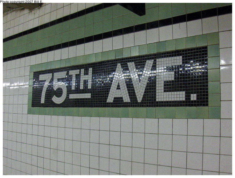 (114k, 820x622)<br><b>Country:</b> United States<br><b>City:</b> New York<br><b>System:</b> New York City Transit<br><b>Line:</b> IND Queens Boulevard Line<br><b>Location:</b> 75th Avenue <br><b>Photo by:</b> Bill E.<br><b>Date:</b> 5/13/2007<br><b>Viewed (this week/total):</b> 2 / 1514