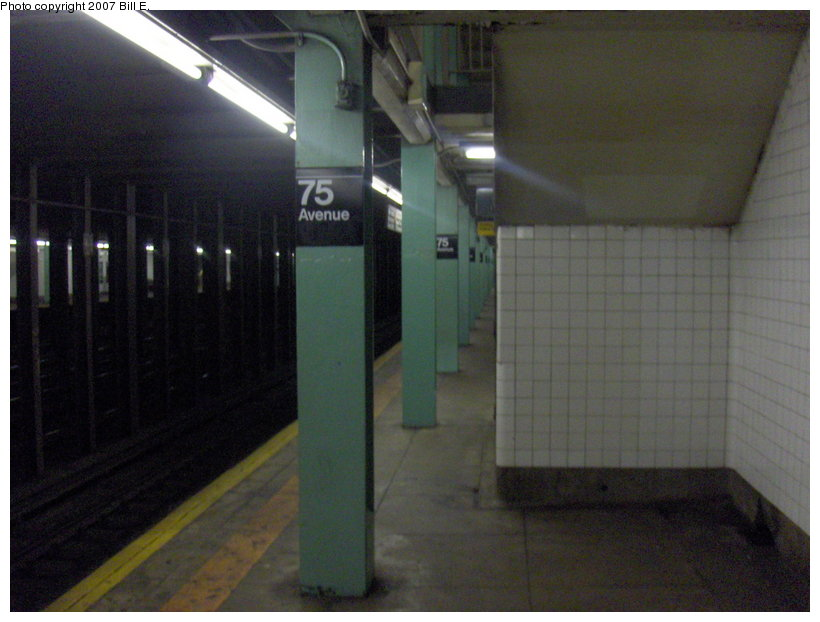 (87k, 820x622)<br><b>Country:</b> United States<br><b>City:</b> New York<br><b>System:</b> New York City Transit<br><b>Line:</b> IND Queens Boulevard Line<br><b>Location:</b> 75th Avenue <br><b>Photo by:</b> Bill E.<br><b>Date:</b> 5/13/2007<br><b>Viewed (this week/total):</b> 3 / 1310