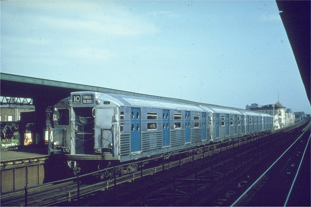 (189k, 1024x682)<br><b>Country:</b> United States<br><b>City:</b> New York<br><b>System:</b> New York City Transit<br><b>Line:</b> BMT Myrtle Avenue Line<br><b>Location:</b> Knickerbocker Avenue <br><b>Route:</b> Fan Trip<br><b>Car:</b> R-11 (Budd, 1949) 8011 <br><b>Photo by:</b> Matt Herson<br><b>Collection of:</b> Joe Testagrose<br><b>Date:</b> 11/18/1967<br><b>Viewed (this week/total):</b> 1 / 2617