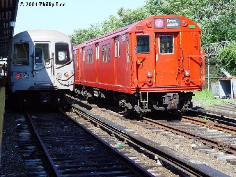 (119k, 799x600)<br><b>Country:</b> United States<br><b>City:</b> New York<br><b>System:</b> New York City Transit<br><b>Location:</b> Rockaway Park Yard<br><b>Route:</b> Fan Trip<br><b>Car:</b> R-33 Main Line (St. Louis, 1962-63) 9017 <br><b>Photo by:</b> Phillip Lee<br><b>Date:</b> 6/19/2004<br><b>Viewed (this week/total):</b> 1 / 1718