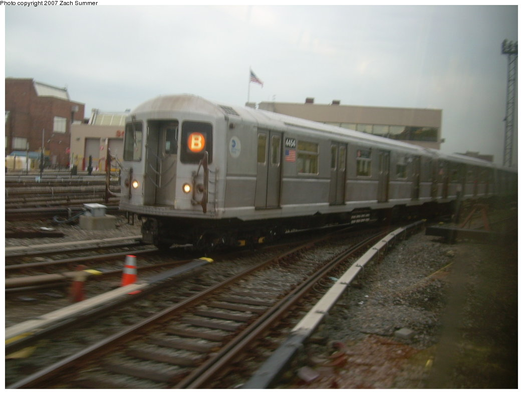 (145k, 1044x788)<br><b>Country:</b> United States<br><b>City:</b> New York<br><b>System:</b> New York City Transit<br><b>Location:</b> Coney Island Yard<br><b>Route:</b> B<br><b>Car:</b> R-40M (St. Louis, 1969)  4454 <br><b>Photo by:</b> Zach Summer<br><b>Date:</b> 5/18/2007<br><b>Viewed (this week/total):</b> 2 / 1889