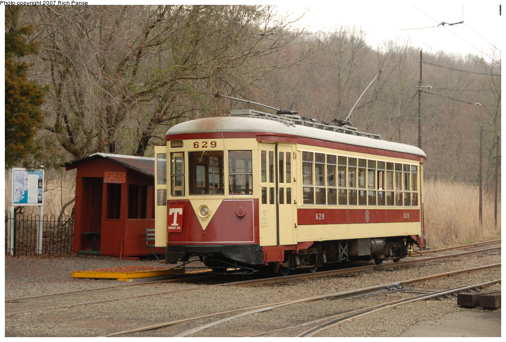 (221k, 1044x705)<br><b>Country:</b> United States<br><b>City:</b> East Haven/Branford, Ct.<br><b>System:</b> Shore Line Trolley Museum <br><b>Car:</b> TARS 629 <br><b>Photo by:</b> Richard Panse<br><b>Date:</b> 4/28/2007<br><b>Viewed (this week/total):</b> 0 / 570