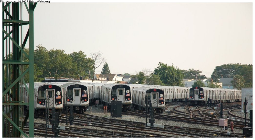 (185k, 1044x576)<br><b>Country:</b> United States<br><b>City:</b> New York<br><b>System:</b> New York City Transit<br><b>Location:</b> Rockaway Parkway (Canarsie) Yard<br><b>Car:</b> R-143 (Kawasaki, 2001-2002)  <br><b>Photo by:</b> Brian Weinberg<br><b>Date:</b> 5/28/2007<br><b>Viewed (this week/total):</b> 1 / 2263
