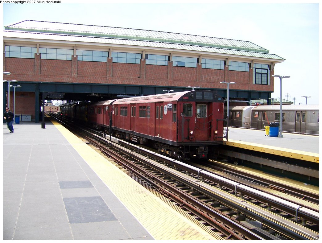 (204k, 1044x788)<br><b>Country:</b> United States<br><b>City:</b> New York<br><b>System:</b> New York City Transit<br><b>Location:</b> Coney Island/Stillwell Avenue<br><b>Route:</b> Work Service<br><b>Car:</b> R-33 World's Fair (St. Louis, 1963-64) 9339 <br><b>Photo by:</b> Michael Hodurski<br><b>Date:</b> 6/7/2007<br><b>Viewed (this week/total):</b> 3 / 1364